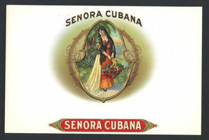 Senora Cubana Brand Inner Cigar Box Label