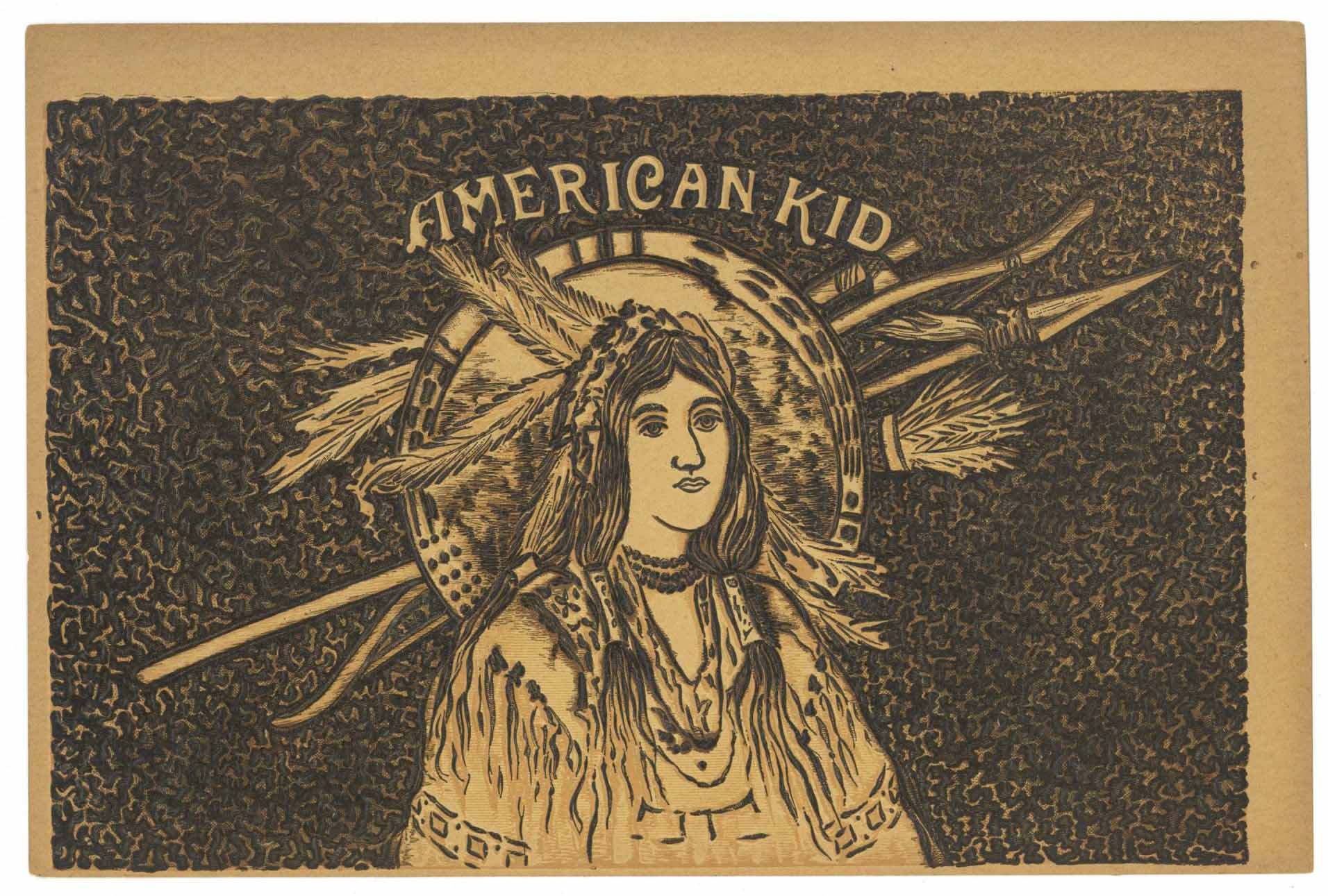American Kid Brand Inner Cigar Box Label