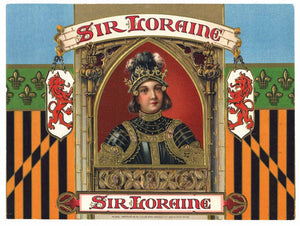 Sir Loraine Brand Inner Cigar Box Label
