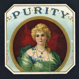 Purity Brand Outer Cigar Box Label