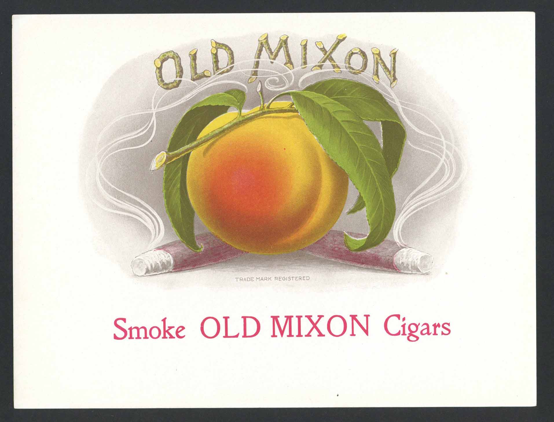 Old Mixon Brand Inner Cigar Box Label