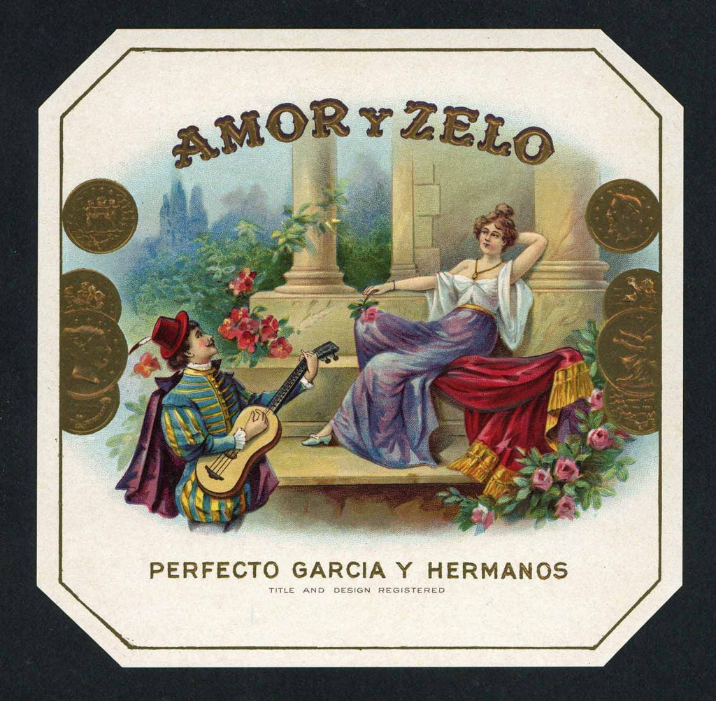 Amor Y Zelo Brand outer Cigar Box Label