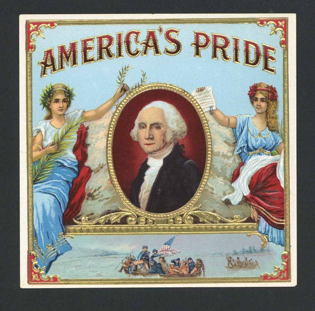 America's Pride Brand Outer Cigar Box Label