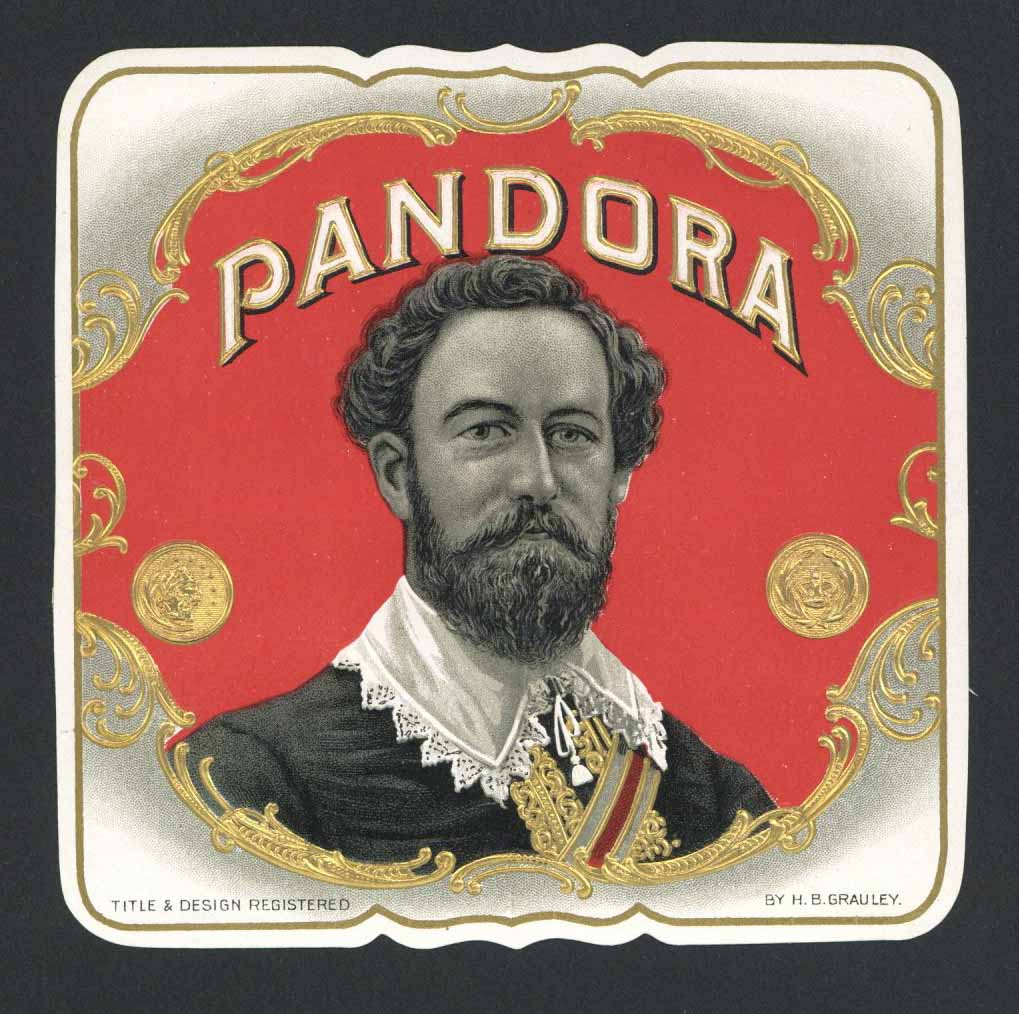 Pandora Brand Outer Cigar Label