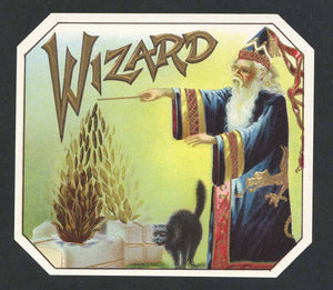 Wizard Outer Cigar Box Label