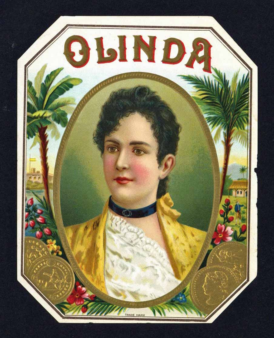 Olinda Brand Outer Cigar Box Label
