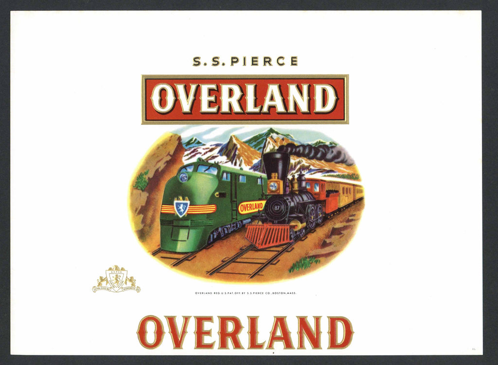 Overland Brand Inner Cigar Box Label