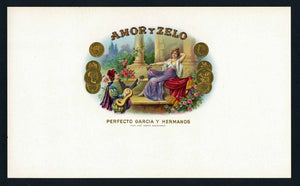 Amor Y Zelo Brand Inner Cigar Box Label
