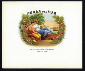 Perla Del Mar Inner Cigar Box Label