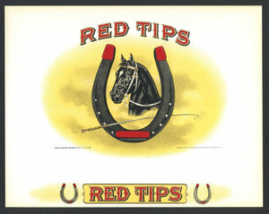 Red Tips Brand Inner Cigar Label