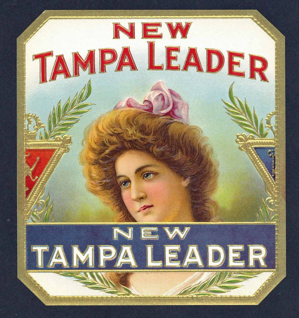 New Tampa Leader Brand outer Cigar Box Label