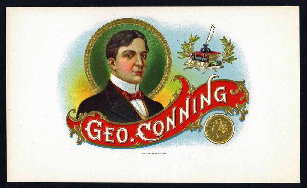 Geo. Conning Brand Inner Cigar Box Label