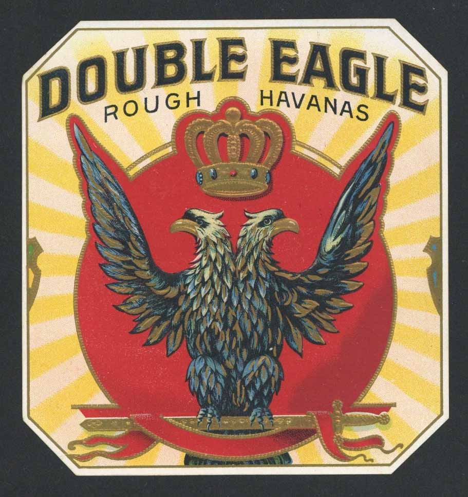 Double Eagle Brand Outer Cigar Box Label