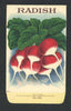 Radish Antique Stock Seed Packet