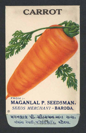 Carrot Antique Maganlal Seed Packet, India