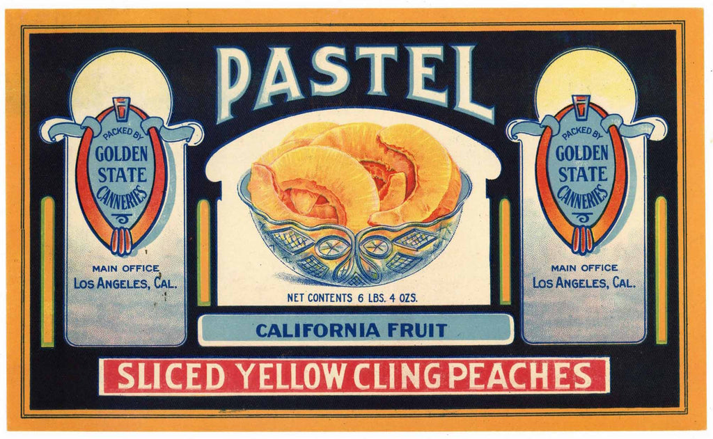 Pastel Brand Vintage Peach Can Label