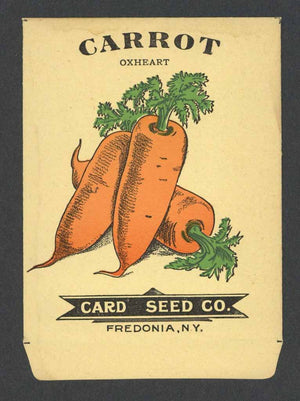 Carrot Antique Card Seed Co. Packet, Oxheart