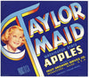 Taylor Maid Brand Vintage Wenatchee Washington Apple Crate Label