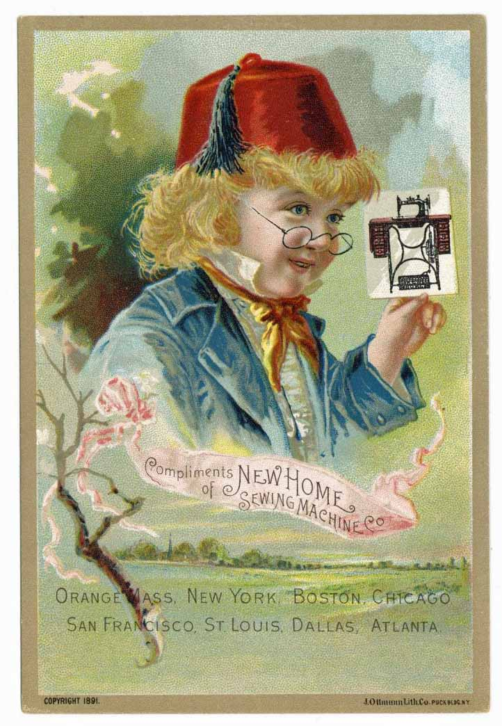 Victorian Trade Card, New Home Sewing Machines