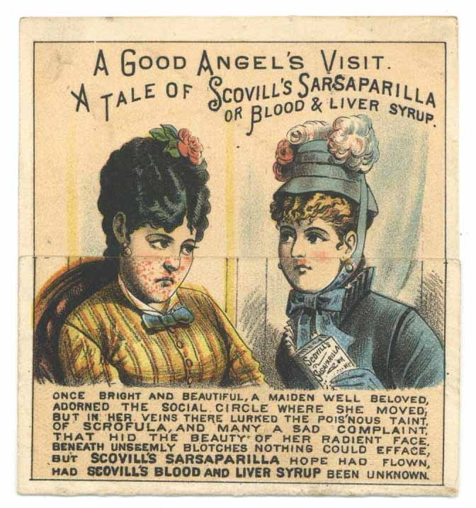 Victorian Trade Card, Blood & Liver Syrup, Metamorphic