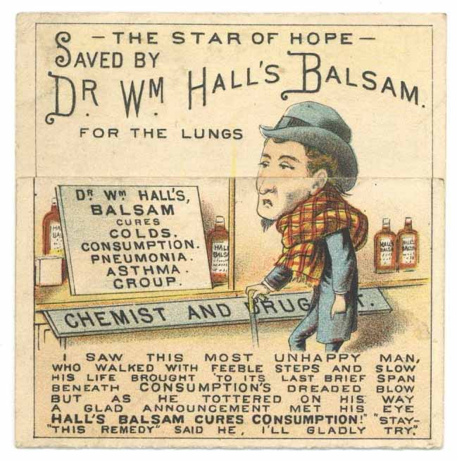 Victorian Trade Card, Dr. Wm. Hall's Balsam, Metamorphic