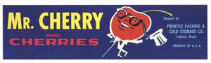Mr. Cherry Brand Vintage Washington Fruit Crate Label