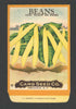 Beans Antique Card Seed Co. Packet, Yellow Six Weeks