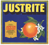 Justrite Brand Vintage Corona Orange Crate Label