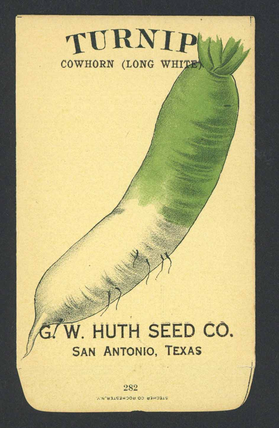 Turnip Antique Huth Seed Co. Packet