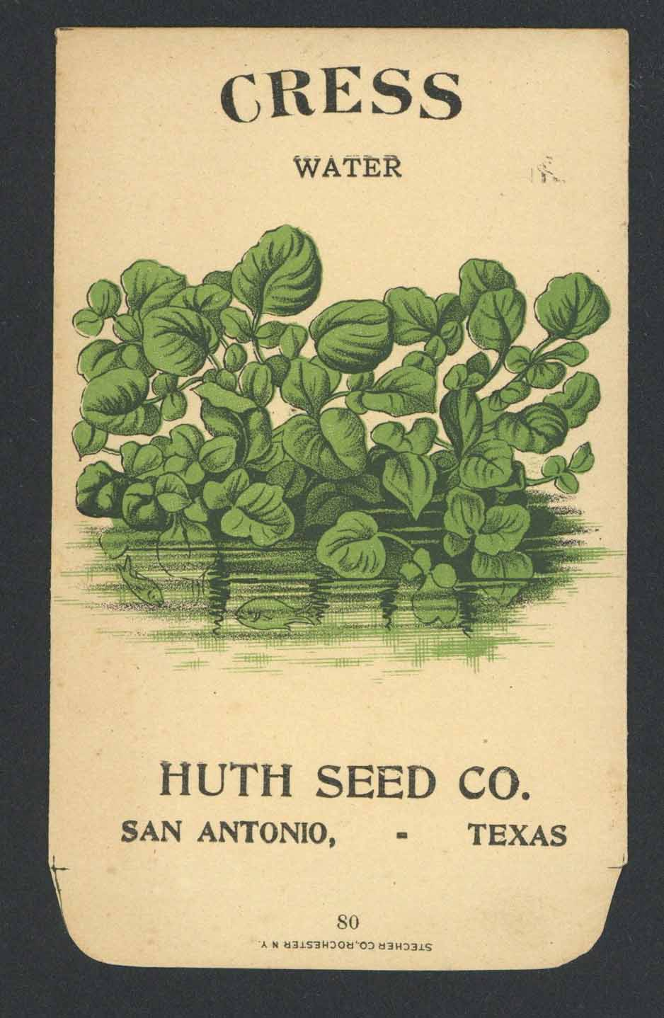 Cress Antique Huth Seed Co. Packet