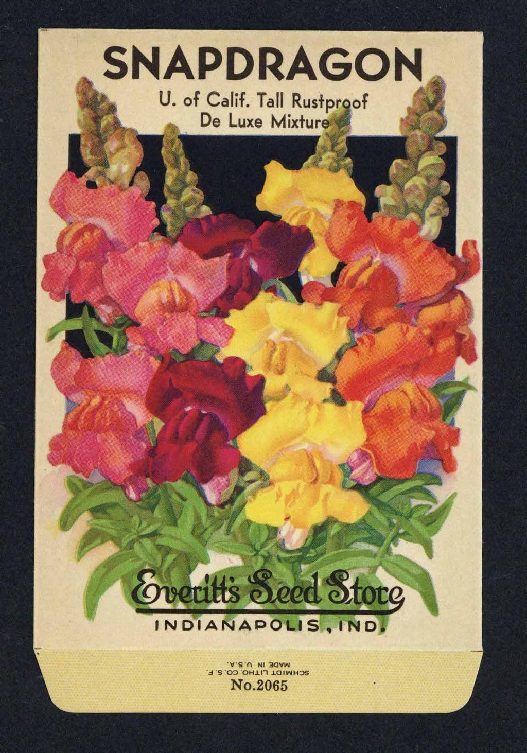 Snapdragon Vintage Everitt's Seed Packet