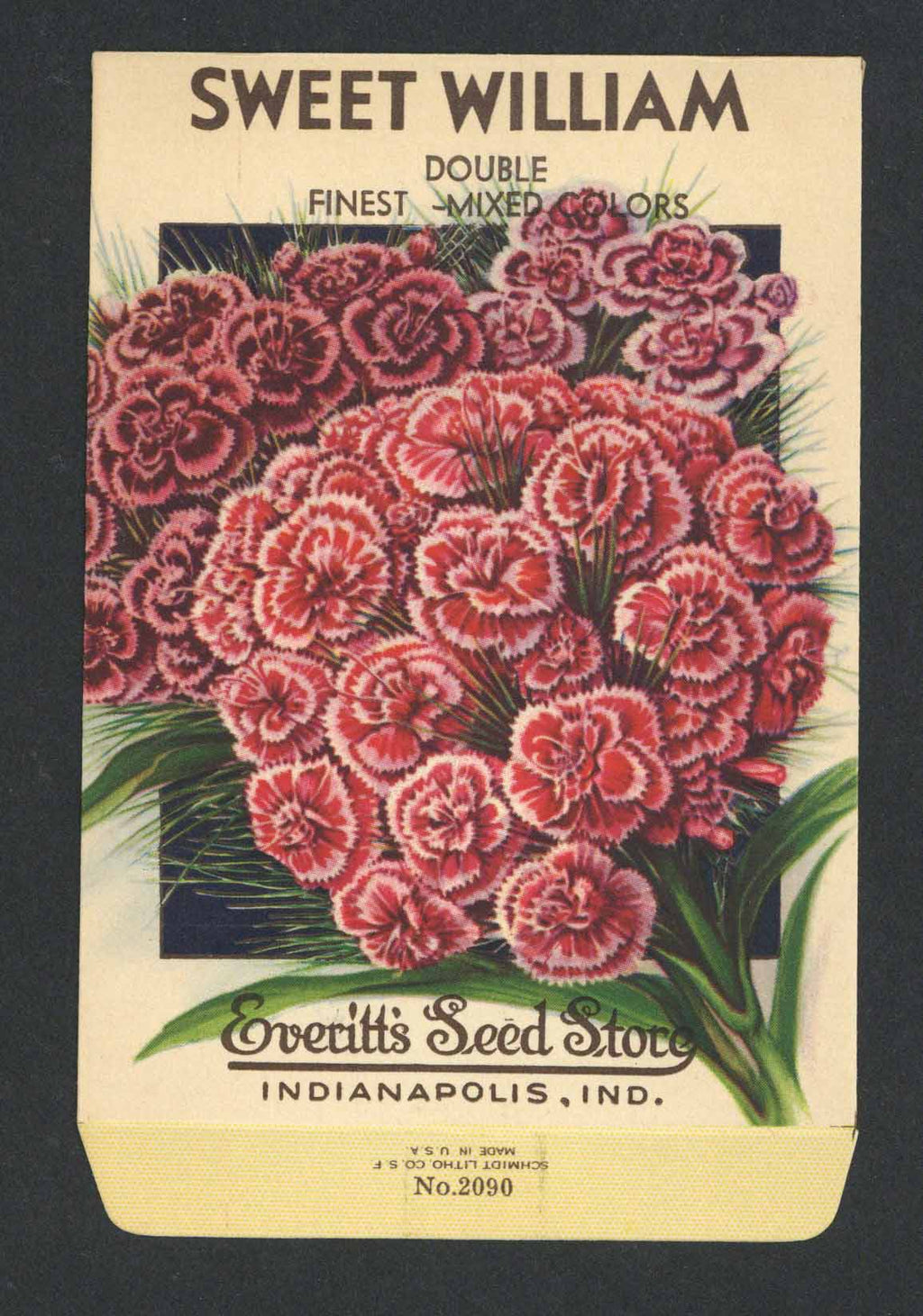 Sweet William Vintage Everitt's Seed Packet, Double