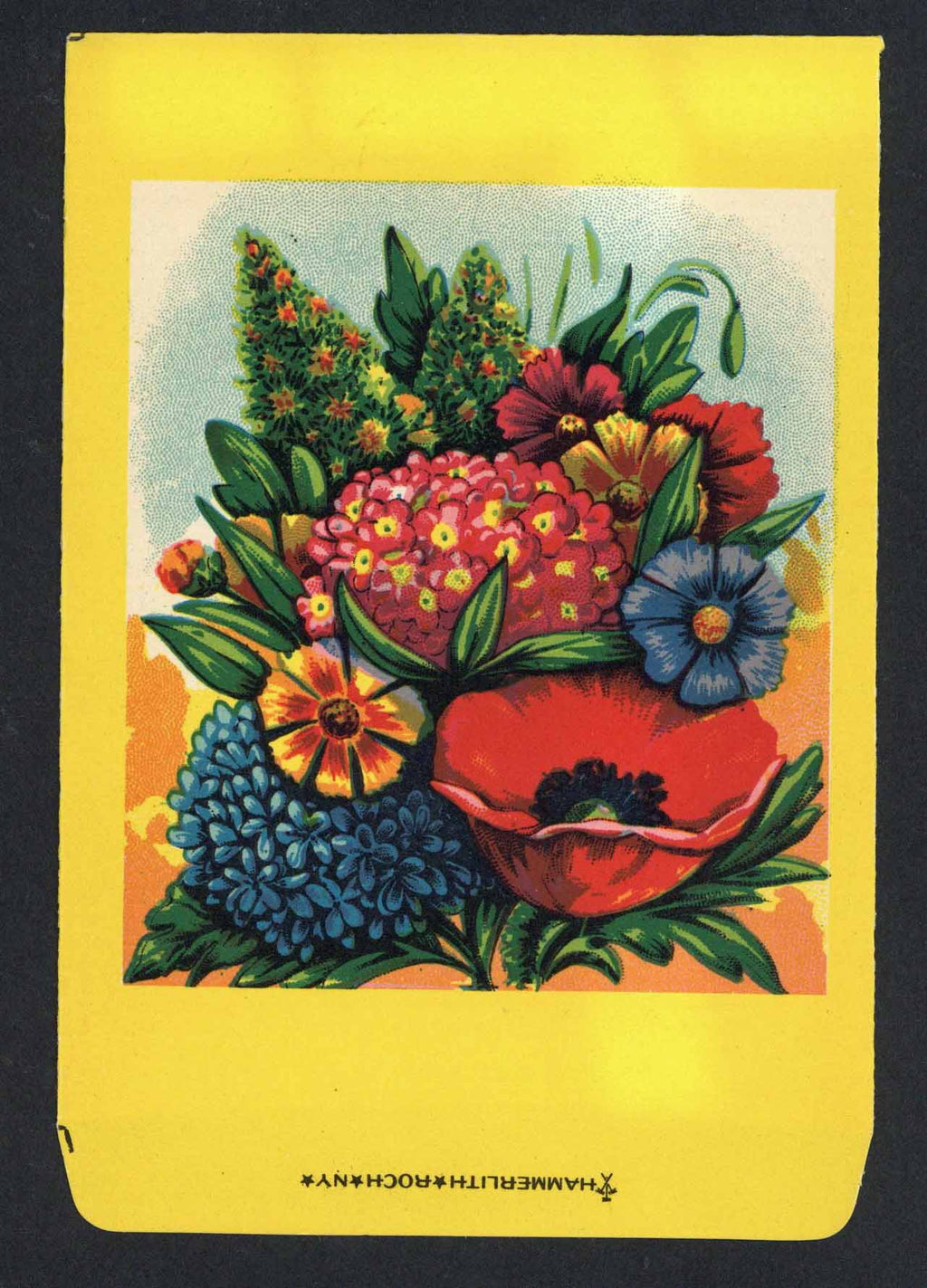 Mixed Flowers Antique Stock Seed Packet, Hammerlith