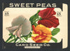 Sweet Peas Antique Card Seed Co. Packet
