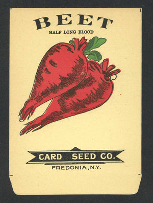 Beet Antique Card Seed Co. Seed Packet