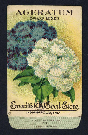 Ageratum Antique Everitt's Seed Packet