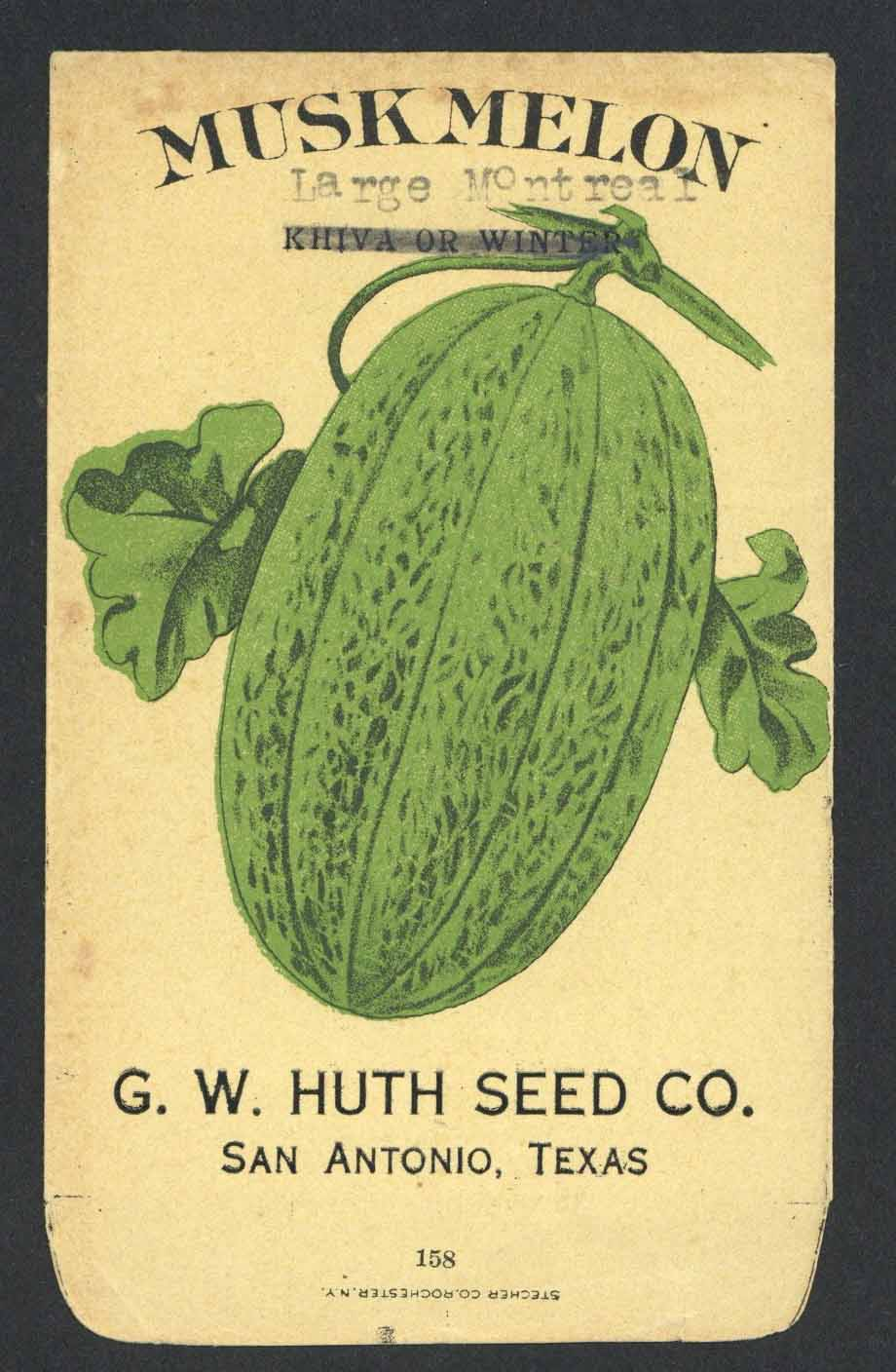 Muskmelon Antique Huth Seed Co. Packet