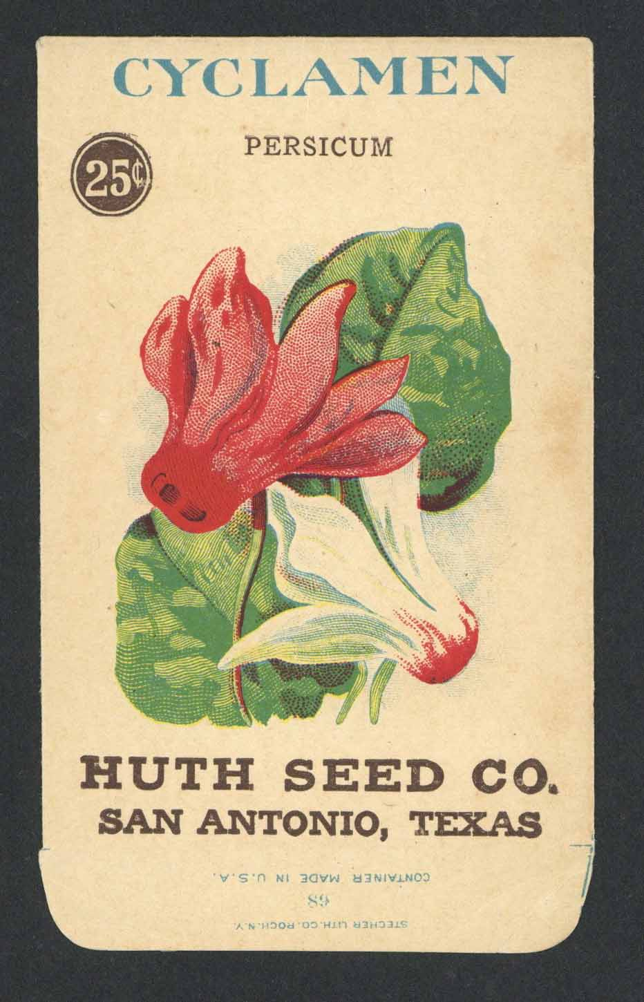 Cyclamen Antique Huth Seed Co. Packet