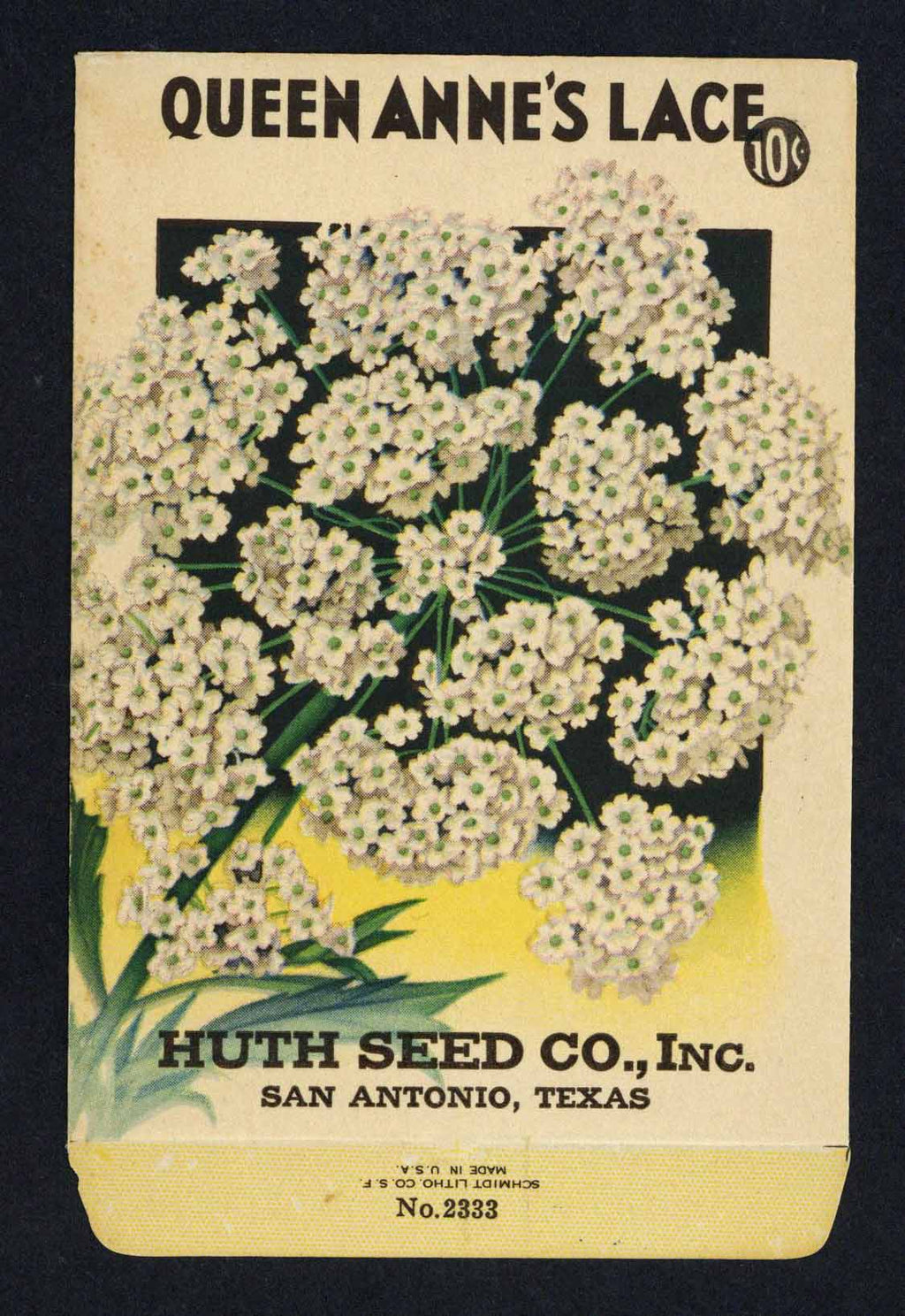 Queen Anne's Lace Vintage Huth Seed Co. Seed Packet
