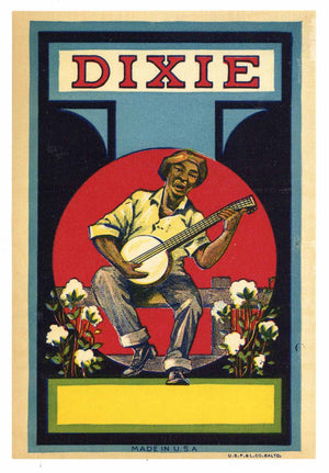 Dixie Brand Vintage Broom Label