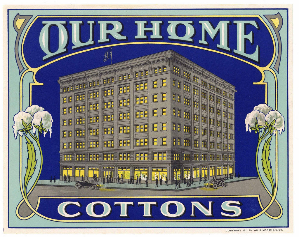 Our Home Brand Vintage Cotton Fabric Label