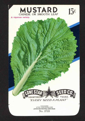 Mustard Vintage Lone Star Seed Packet, Chinese