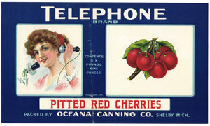 Copy of Telephone Brand Vintage Shelby Michigan Cherry Can Label