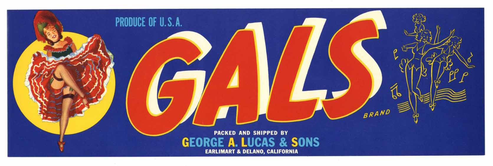 Gals Brand Vintage Fruit Crate Label