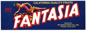 Fantasia Vintage Fresno Fruit Crate Label s