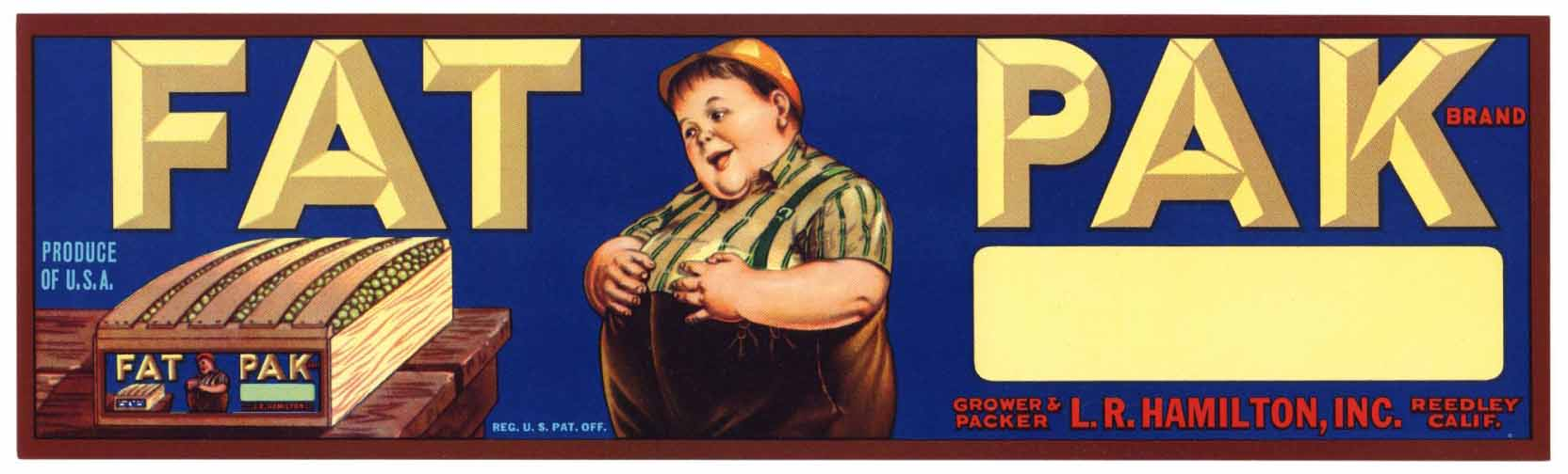Fat Pak Vintage Grape Crate Label