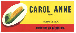 Carol Anne Brand Vintage Coachella Valley Corn Crate Label