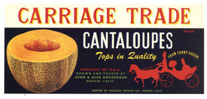 Carriage Trade Brand Vintage Cantaloupe Crate Label