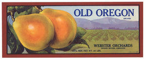 Old Oregon Brand Vintage Hood River Pear Crate Label