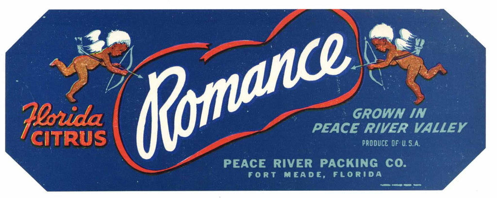 Romance Brand Vintage Fort Meade Florida Citrus Crate Label